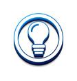 3d glossy idea web icon vector image