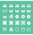 Set of washing symbols Washing instruction vector image