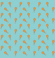 chicken thighs pattern colorful in aquamarine vector image
