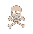 danger skull bones crossed medicine symbol vector image