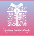 happy valentines day with symbols template of vector image