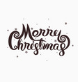 merry christmas typographical design vector image