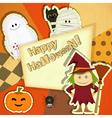 Retro Halloween Card vector image