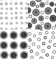 Seamless pattern polka dot texture on white vector image