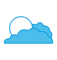sun and cloud vector image