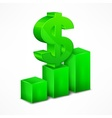 Green chart with dollar sign vector image vector image
