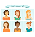 Female Avatars Set vector image vector image