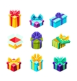 Gift Boxes With And Without A Present Inside vector image