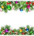 branches of Christmas tree vector image vector image
