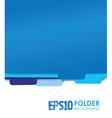 blue folders vector image