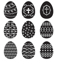 egg set black vector image vector image