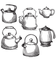 Set of kettles vector image