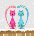 couple cats vector image vector image