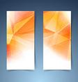 Bright orange crystal structure banner set vector image vector image