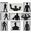 incarcerated vector image vector image