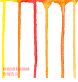 watercolor vertical orange and red stripes vector image vector image