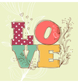 Love background vector image