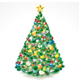 beauty christmas tree vector image vector image