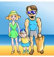 beach kids vector image