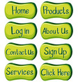 buttons design with words in green vector image