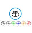community rounded icon vector image