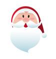 cute christmas santa claus happy celebration vector image