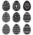 egg set black vector image
