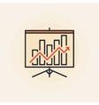 Growing graph presentation icon vector image