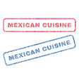 mexican cuisine textile stamps vector image