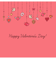 valentine card decoration vector image
