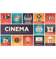 cinema and movie - modern flat design icons vector image