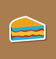 sweet dessert in paper sticker cake vector image