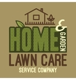 Home and garden lawn care t-shirt vector image