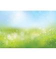 spring bokeh background vector image vector image