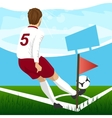 Soccer player taking corner kick vector image