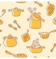 Seamless utensil pattern vector image