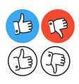 Approval lineart icons collection vector image vector image