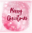 blurred background with merry christmas vector image