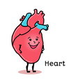 cute and funny human heart character vector image