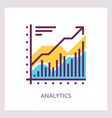 financial analytics icon business concept vector image