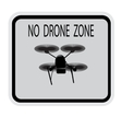 Image drone Caption no drone zone vector image