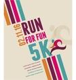 Running marathon people run colorful poster vector image