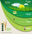 Save the planet green infographic vector image