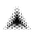 Triangle halftone geometric shapes Dot vector image