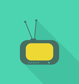 TV flat icon2 vector image vector image