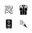 events simple related icons vector image