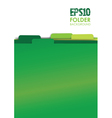green folders vector image vector image