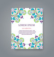 Card or invitation with hand drawn Indian motifs vector image vector image