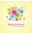bright solution background from spirals vector image vector image
