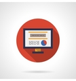 Web analytic icon round flat color icon vector image